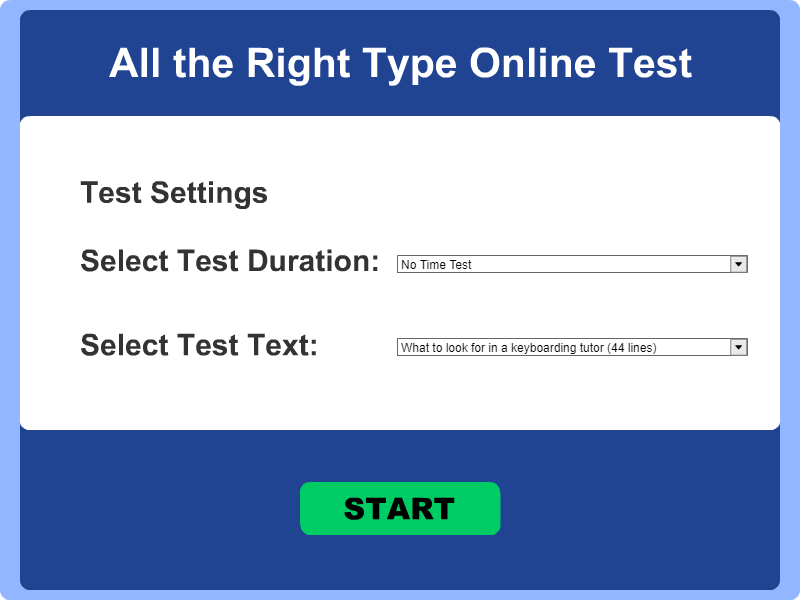 TYPING - ALL THE RIGHT TYPE 4 ONLINE
